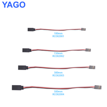 300 pcs Futaba Servo Extension Lead Wire Cable 100MM 150MM 300MM 500MM for futaba male plug