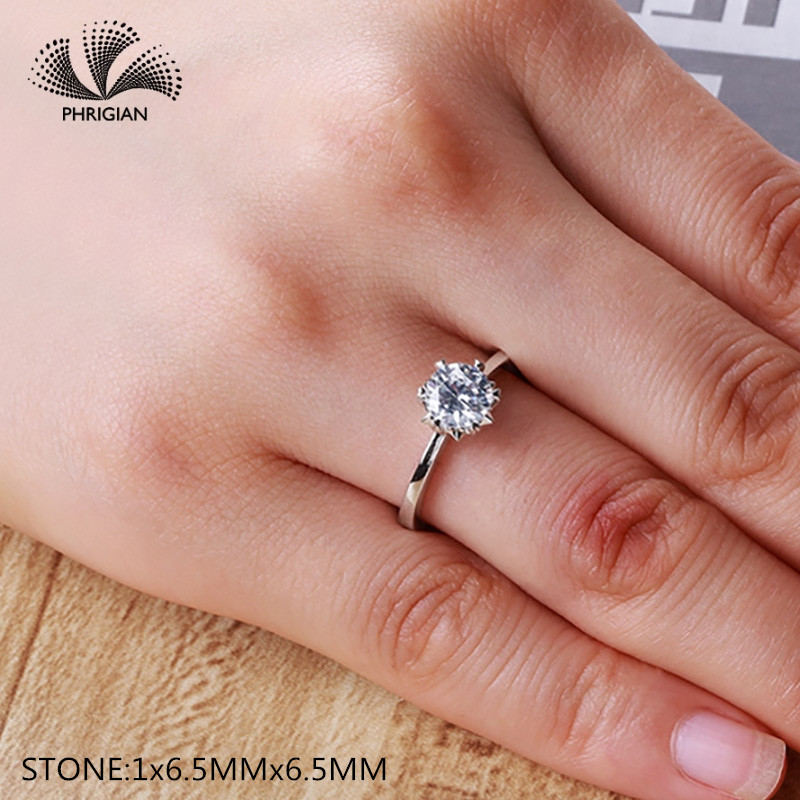 Sona NOT FAKE Fine Engraving Ring S925 Sterling silver Diamond Solitaire ring Original Design 925 round cut 6 clawsSona NOT FAKE Fine Engraving Ring S925 Sterling silver Diamond Solitaire ring Original Design 925 round cut 6 claws