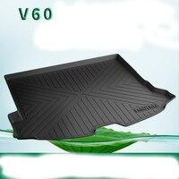 Специальные резиновые TPV багажник автомобиля коврики для 2009 2018 год Volvo S40 S60L S80L S90L V40 V60 XC60 XC90 прочный Водонепроницаемый загрузки ковры