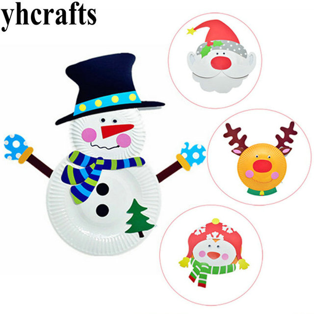 Christmas Design Paper Plate Craft Kits Early Educational Toys Kindergarten Supplies Intelligence