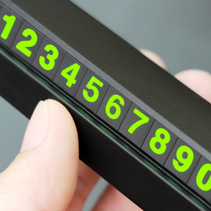 Image 5 - Numero di Carta Del Telefono di Parcheggio temporaneo Luminoso Piastra Per VW Passat B5 B6 CC Tiguan Golf 6 7 MK6 Polo bora Jetta Accessori