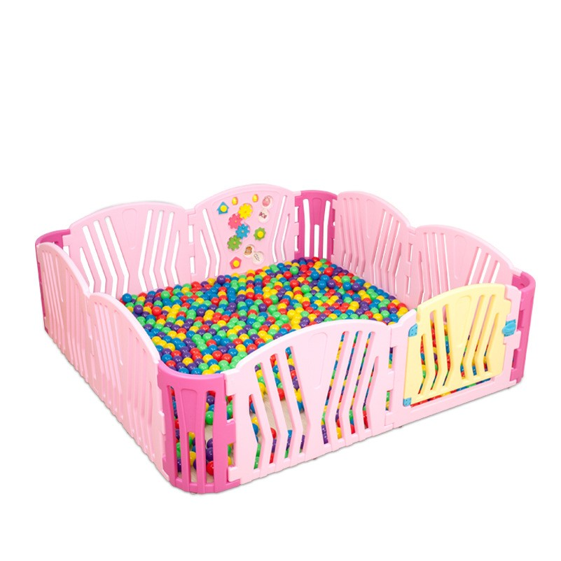 2018 New Baby Kids Indoor Activity Walking Playing Safe Protection Game Fence Environmental Plastic Pink Playpens For Girls inflatable sand tray plastic mobile table for children kids indoor playing sand clay color mud toys accessories multi function