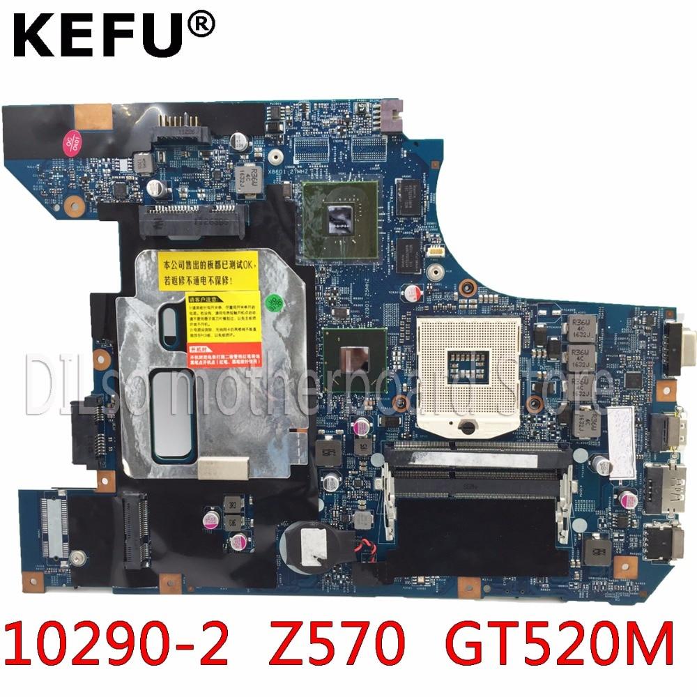 KEFU 10290-2 LZ57 MB original материнская плата для LENOVO Z570 B570 Материнская плата ноутбука Z570 материнской GT520M Тесты