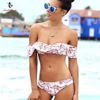 Ariel Sarah Brand 2017 Lace Bikini Wimsuit Swimwear Women Sexy Bikinis Set Floral Swimming Suit For