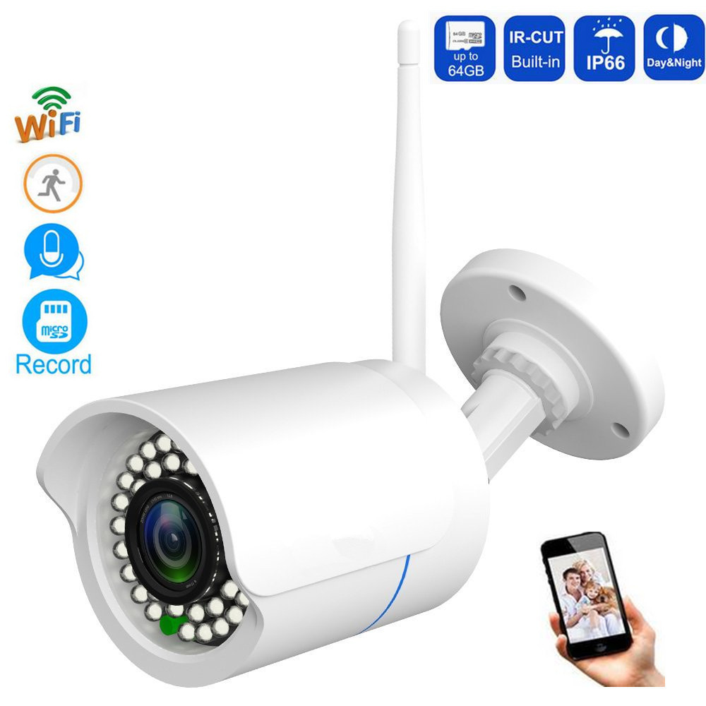 1080P Wireless IP Camera Waterproof Bullet Security Outdoor CCTV Camera Night Vision P2P Network Camera Video Surveillance wifi camera 1080p full hd wi fi mini bullet ip camera outdoor waterproof surveillance security network wireless cctv camera p2p