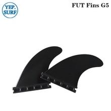 Hight Quality Fins Plastic Future surf G5 Black color Fin 2pcs per set