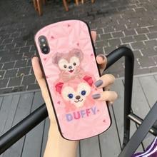 Luxury Cute Cartoon Monkey Arc Phone Case For iPhone 7 8 Plus X XR XS Max Fashion 3D Diamond Texture Soft TPU For iPhone X Case недорого