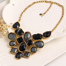 Limited Quantity Statement Necklace For Women Vintage Multicolor Geometric Choker Necklace Charm Boho Steampunk Maxi Collares(China)