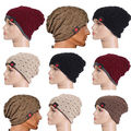 New Small Striped Unisex Hollowed Cap Double-Sided Wear Warm Woolen knitted Hat