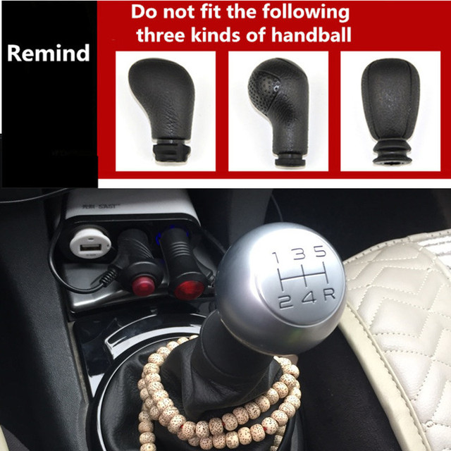5 Speed Alloy MT Gear Shift Knob Gaiter Boot Case Sleeve Adapter For Peugeot 306 307 308 2008 301 3008 406 508 605 807 106 206