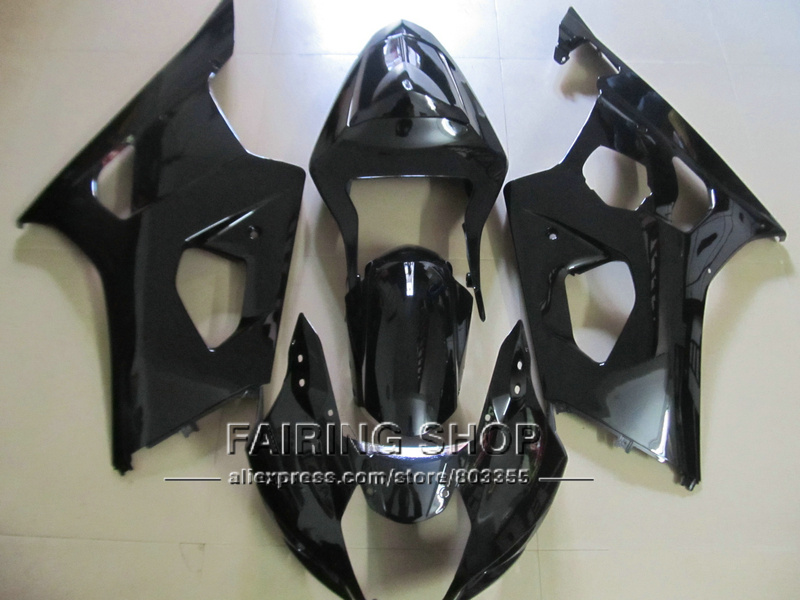 New hot bodywork fairing kit for Suzuki GSXR1000 03 04 K3 K4 matte black injection fairings set GSXR 1000 2003 2004 WT39 100% fit for suzuki injection molding gsxr1000 fairing kit k3 k4 2003 2004 brown black fairings set gsxr 1000 03 04 ap34