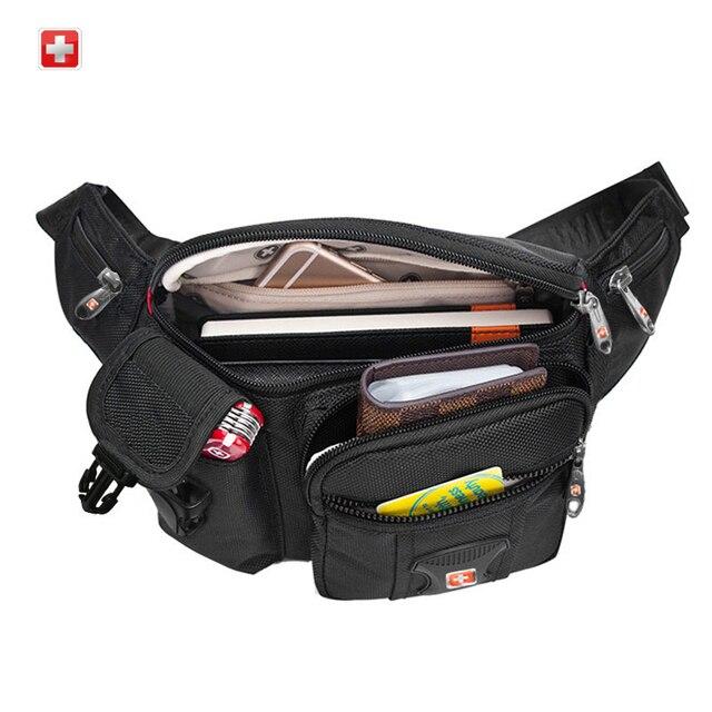 Swisswin Fanny Pack Men Small Waist Bag Male Waterproof Multi-pocket Women Money Pouch Belly Bag For Cellphones