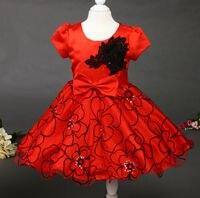Di alta Qualità 3D Ricamo Ragazza Abiti Da Principessa Girl Dress Tutu Per Il Compleanno Photo Wedding Party Festival Vestiti Della Ragazza L8096