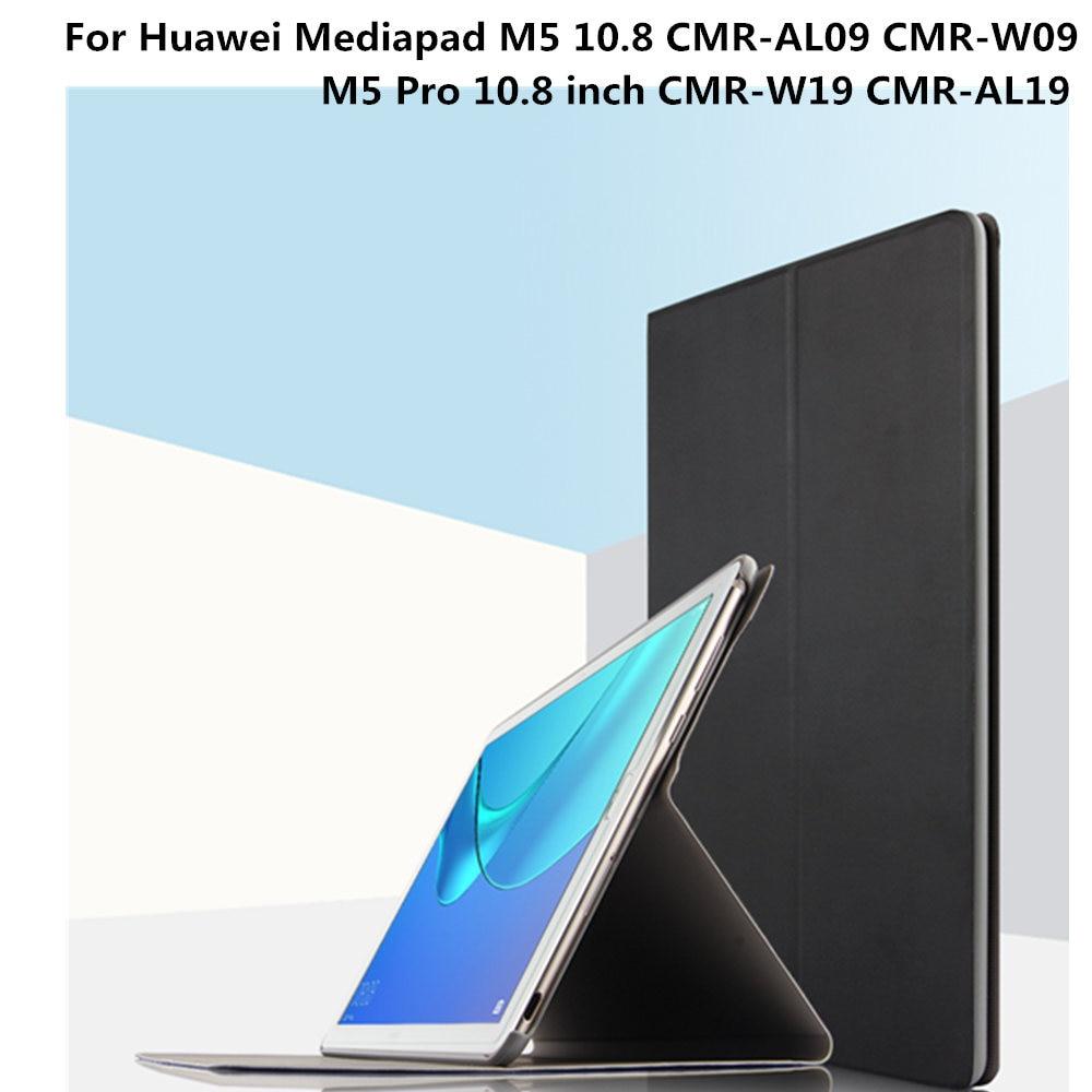 Pour Huawei MediaPad M5 10.8 CMR-W09 CMR-AL09 Housse De Protection En Cuir PU Cas de Stand Pour Huawei m5 Pro10.8 pouces CMR-W19 CMR-AL19