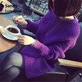 2016 Новый осень платье свитер женщины пуловер тянуть femme фиолетовый бежевый серый перемычек свитера трикотажные свитера женщин sueter mujer 038