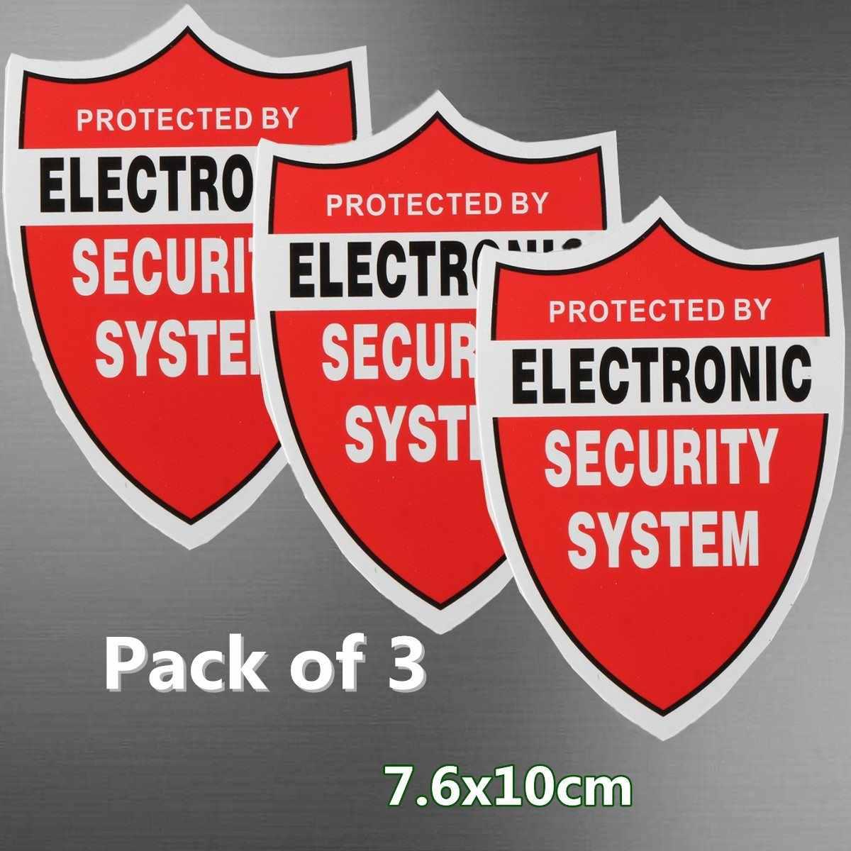 חדש 3 יחידות מדבקות מדבקת מדבקות אזהרה וידאו מערכת אבטחת בית CCTV מצלמה אבטחת אזעקה