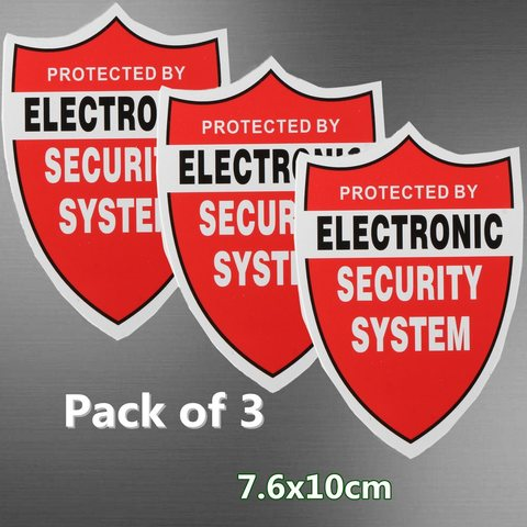 NEW 3 Pcs SECURITY SYSTEM DECALS Sticker Decal Video Warning CCTV Camera Home Alarm Security Pakistan