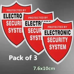 Nowy 3 sztuk SYSTEM bezpieczeństwa naklejki naklejka ostrzeżenie wideo KAMERA TELEWIZJI PRZEMYSŁOWEJ alarmowego w domu w Taśmy ostrzegawcze od Bezpieczeństwo i ochrona na