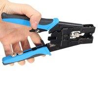 Aletler'ten Penseler'de 1 adet dayanıklı Coax sıkıştırma Crimper aracı BNC/RCA/F sıkma konnektörü RG59/58/6 kablo tel kesici ayarlanabilir sıkma pense araçları