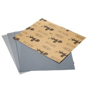 Image 2 - 5 Pcs עמיד למים חול ניירות רטוב ויבש חול נייר מעורב מגוון חצץ 2000 2500 3000 5000 7000 עבור רכב צבע לכה מילוי