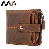 MVA Genuine Leather Men Wallets Leather Man Short Wallet Vintage Man Purse Male Wallet Men S