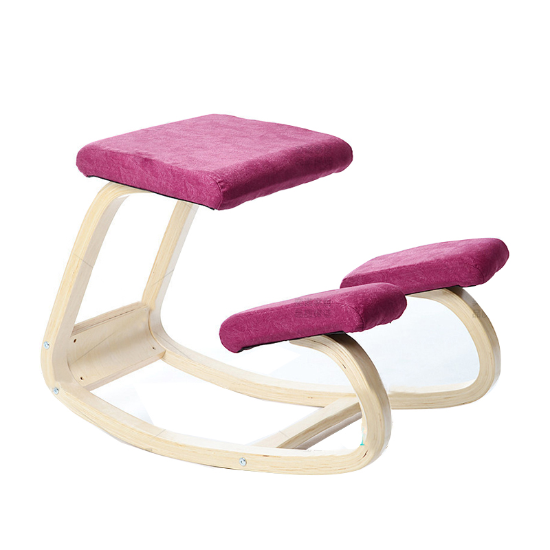 Original Ergonomic Kneeling Chair Stool Wood Posture Support Children Furniture Ergonomic Wooden Kneeling Chair Balancing Body