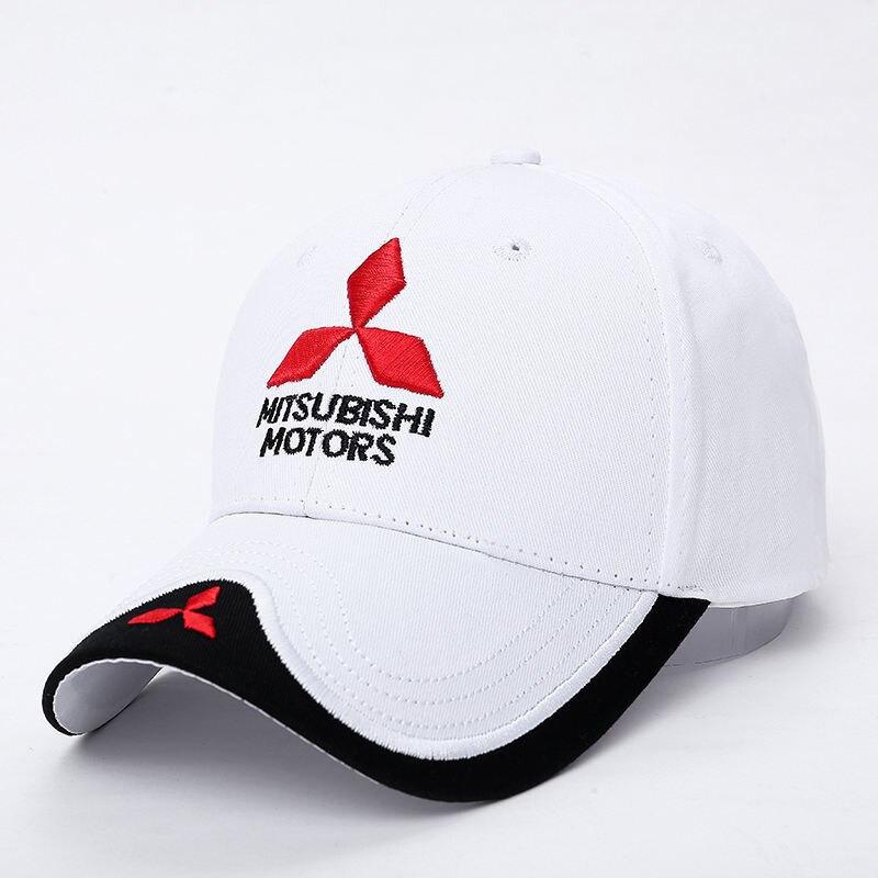 New 3D Logo Mitsubishi Hat Car Caps Motogp Moto Racing F1 Baseball Cap Men  Women Adjustable Casual Trucker Hat Wholesale Retail   BestDealPlus eaaf74425eaa