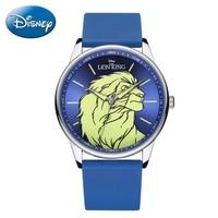 Lion King Simba Brave Men Quartz Silicone Waterproof Wrist Watches Man Fashion Sports Watch Top Brand Disney Clock Reloj Hombre
