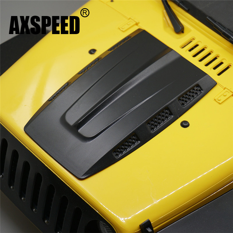 ABS En Plastique Capot Moteur pour Rock Crawler RC 1/10 Tamiya CC01 Axial SCX10 RC4WD D90 Jeep Wrangler Rubicon Corps Shell noir