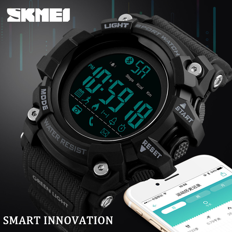 <font><b>SKMEI</b></font> Brand Sport Smart Watch Men Hours Pedometer Calories Digital Watch Waterproof Bluetooth Smart Electronic Watch Male Clock image