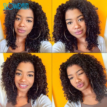7A Grade Brazilian Curly Full Lace Wig Glueless Short Curly Full Lace Virgin Human Hair Kinky Curly Wig Black Women Baby Hair