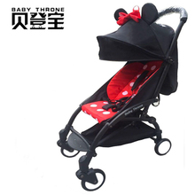 Upgrade a baby stroller ultra portable folding 2 and 1 four wheel suspension travel stroller