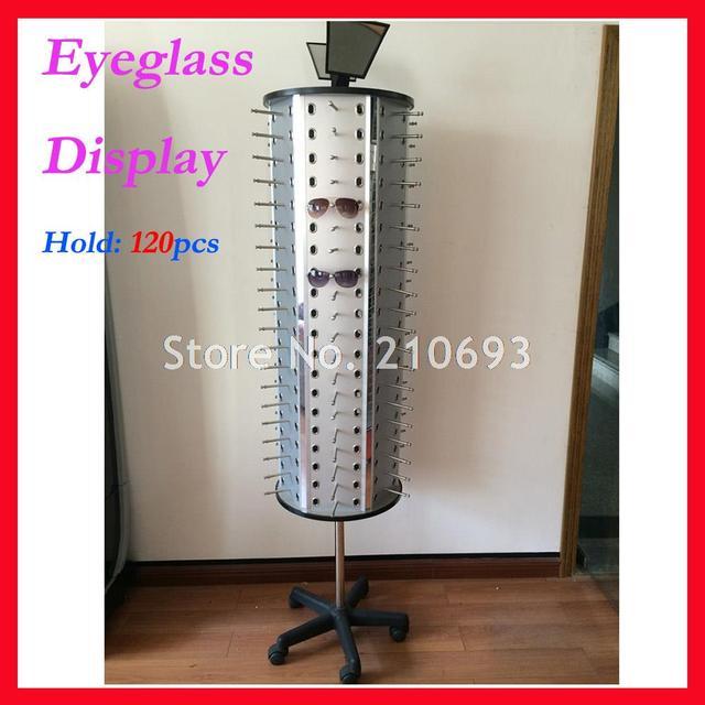 FD1013 ถือ 120pcs ใหม่ Rotatable แว่นตาแว่นตาแว่นตากันแดดแว่นตาขาตั้งจอแสดงผล