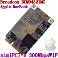Broadcom BCM94321MC BCM94321 sem fio wlan 300Mps Mini pcie para Apple MacBook