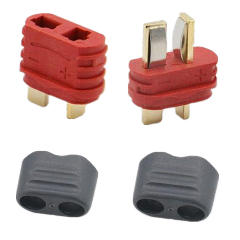5 Pairs Red T Plug Deans Connectors For RC LiPo Battery Male and Female 40A high current multi-axis fixed-wing model aircraft5 Pairs Red T Plug Deans Connectors For RC LiPo Battery Male and Female 40A high current multi-axis fixed-wing model aircraft