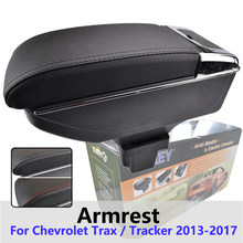 Xukey Central Armrest For Chevrolet Trax Tracker 2013 - 2017 Console Center Black Storage Car Styling Box Ashtray 2015(China)