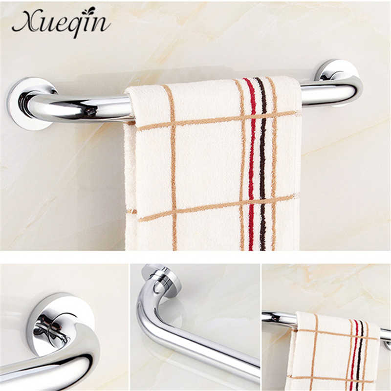 Xueqin Wall Mount Bathroom Grab Bars for Elderly Safety <font><b>stainless</b></font> <font><b>steel</b></font> Toilet Bathtub Handrail Chromed <font><b>Towel</b></font> Rack 4 Size