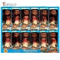 TOFOCO 10pcs Lot 16cm Kawaii Movable Princess Moana Doll Model Toys Cartoon Movie Plastic Vinyl Dolls