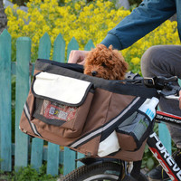 Durable Portable Pet dog handbag bicycle carrier bag Dog Cat Travel bike carrier Seat bag for Puppy Outside Travel Accessories