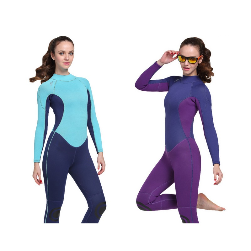 3mm Women Neoprene Wetsuit Jellyfish Clothing Woman Surfing Suit Winter Swimming Dress for Woman Diving Wetsuit Full Body Suit lifurious wetsuits women surfing neoprene surf swimsuit wetsuit for swimming women pink swimwear surfing diving suit long sleeve