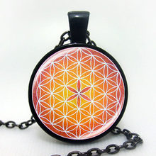 Newest 2017 OM pendant necklace flower of life jewelry mandala statement necklace long necklaces Yoga jewelry Zen jewellery(China)
