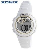 XONIX 여자 스포츠 디지털 시계 방수 100 메터 여성 다기능 시계 실행 수영 다이빙 손목 시계 Montre 팜므 KM