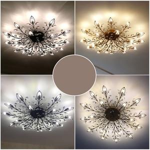 Image 4 - Chandelier Modern Crystal Decoration Chandeliers Ceiling For Living Room Bedroom Dining Room G9 Black/Gold Iron lighting Fixture