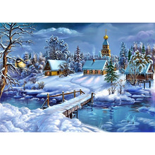 Winter snow diamond painting