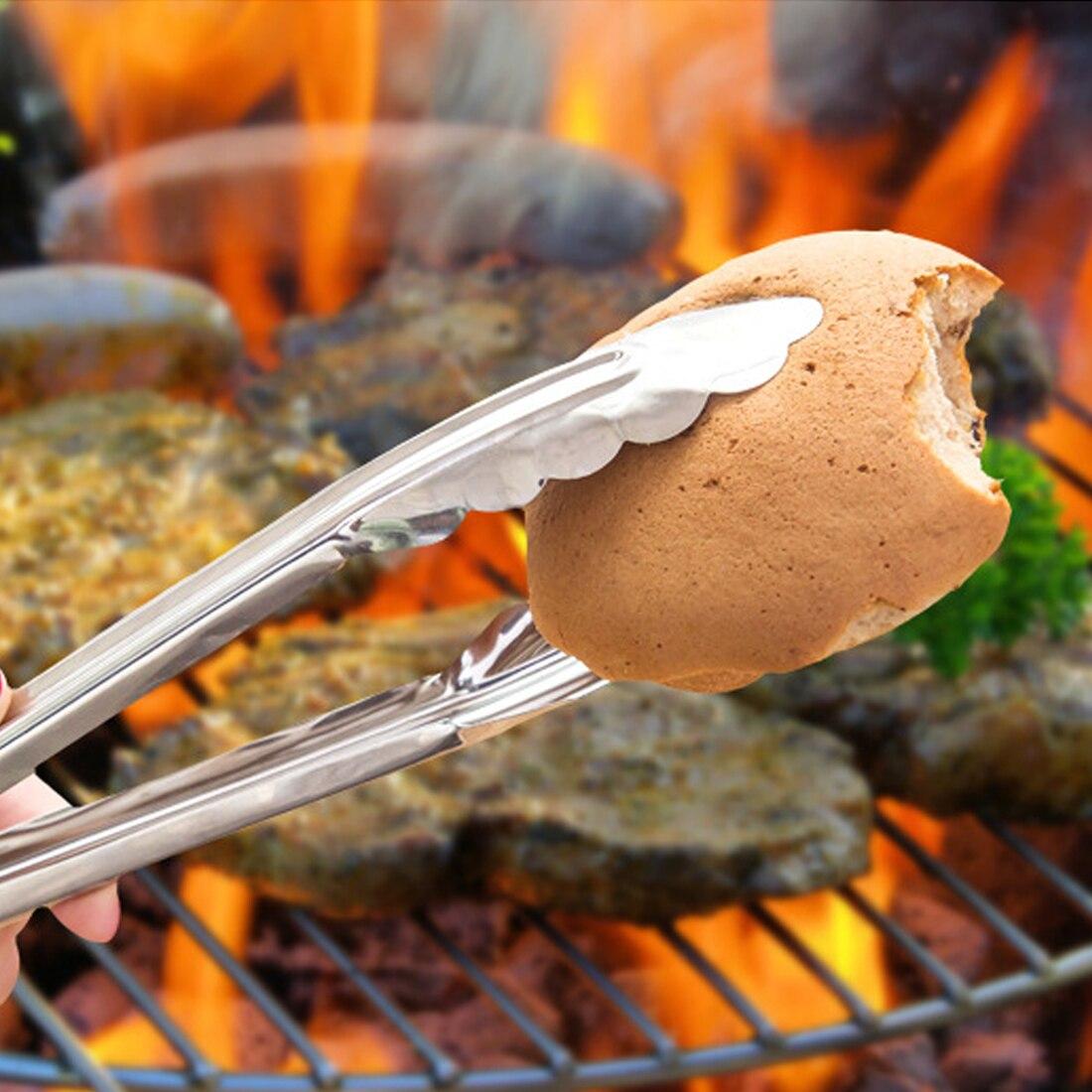 Hot prodej nerezové oceli potravinářské kleště kuchyně vaření potravinářského nádobí tong anti teplo chléb klip pečivo grilovací kleště