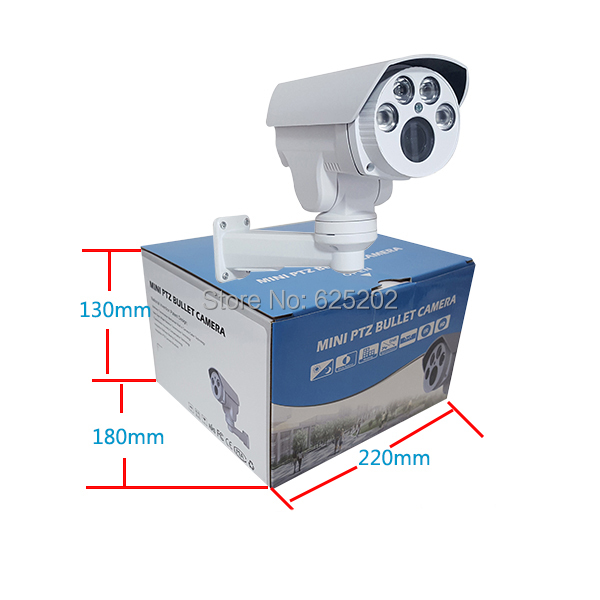Free shiping MINI PTZ AHD 1920x960 10X Auto Focus Zoom 5-50mm HD Lens  Bullet IR Waterproof CCTV Camera with DC Power Supply autoeye cctv camera power adapter dc12v 1a 2a 3a 5a ahd camera power supply eu us uk au plug