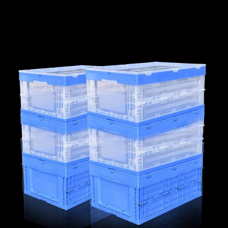 Grands conteneurs de stockage pliants paniers PP matériel bureau accessoires de bureau organisateur usine boîtes en plastique pour l'épicerie