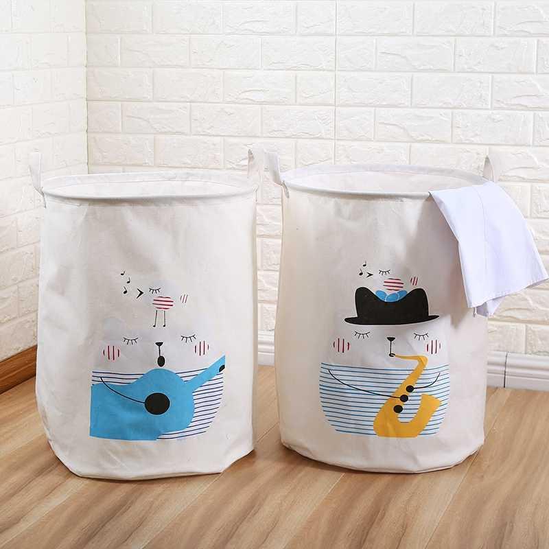 Grande Lavanderia de Dobramento Cesta de Roupa Suja Cesta De Armazenamento Para Meias Gravata Tecido Criativo Brinquedo de Lavar Roupas Organizador Caixa