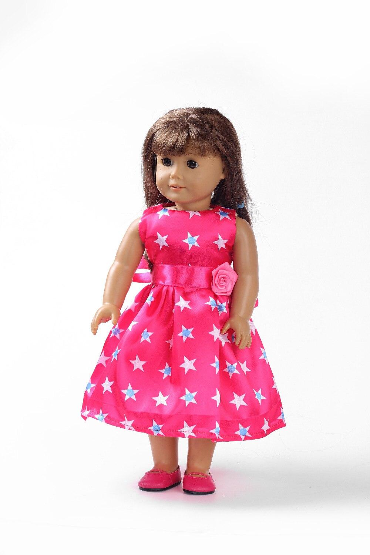 ⑥18 pulgadas American Girl Doll ropa Estrella Roja cabe 18 American ...