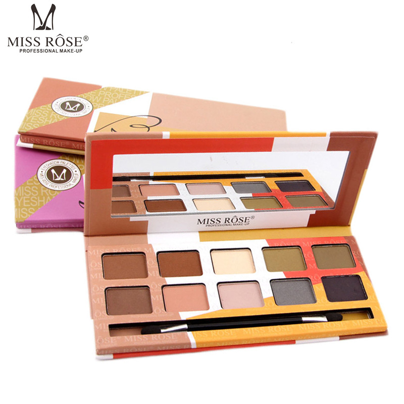 Miss Rose 10 Colors Eyeshadow Palette font b Makeup b font Set Cosmetics Beauty Earth Color